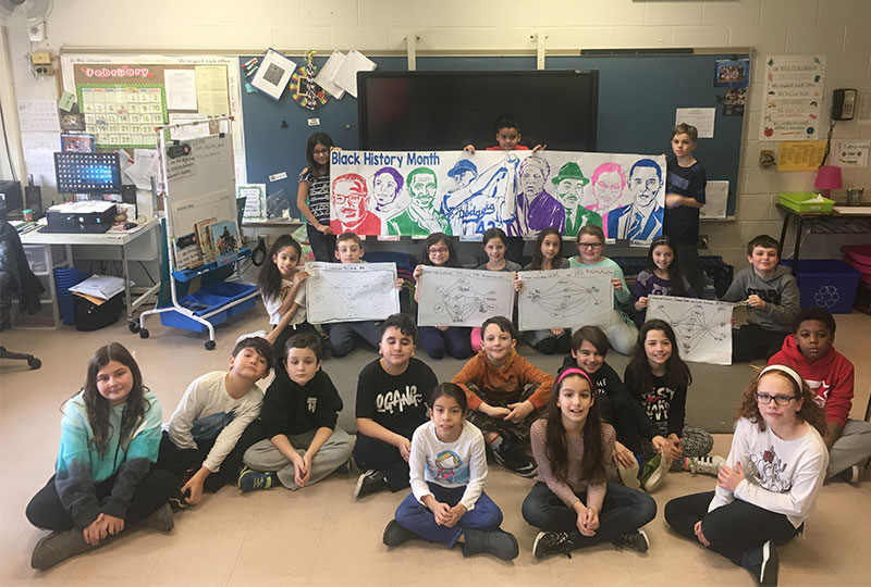 Rhame Students Create Artwork for Black History Month photo