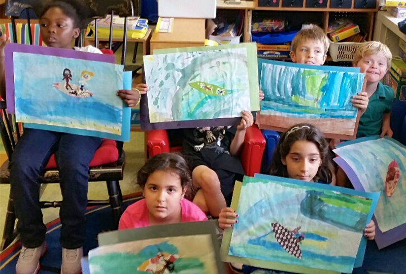 Students Create Surfing Artwork