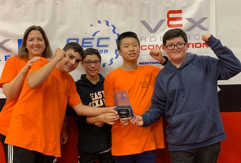 Students Take First Place in Vex IQ photo