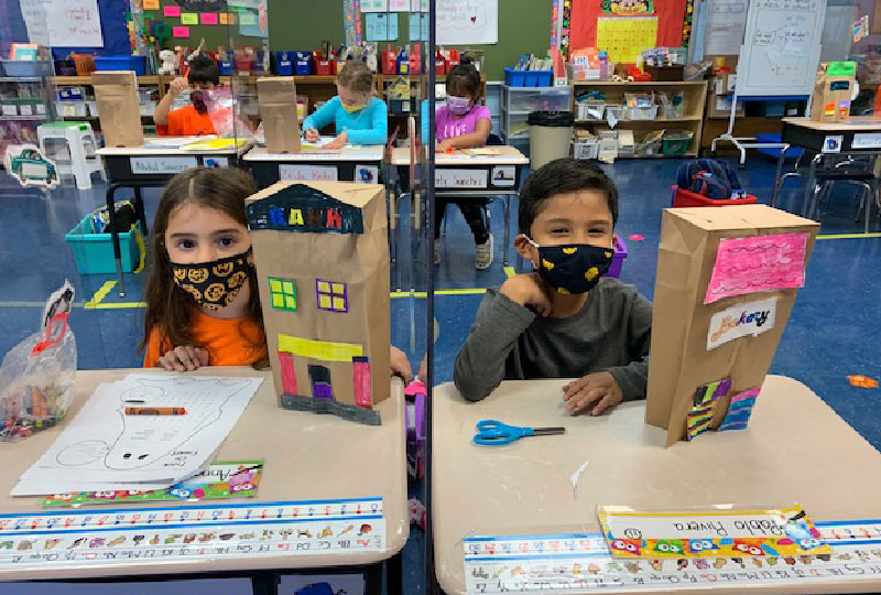 First Graders Turned Contractors
