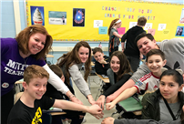Middle School Students Enjoy Pi Day Fun photo