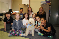 Rhame Students Read to an Unusual Visitor Photo