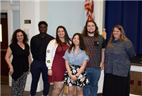 Board Honors Superintendent and Student-Poets photo