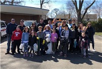 Rhame Students Clean Up in Honor of Earth Day photo