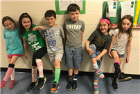 Rhame Students Show Off Their Silly Socks photo