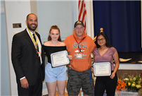 Top Students, Athletes and Retirees Honored at BOE Meeting photo