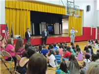 Rhame Students Learn Flag Day Etiquette photo