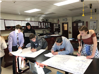 Students Work Together in Physics photo