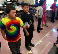 Life-Sized Number Line Fun at Rhame Avenue photo